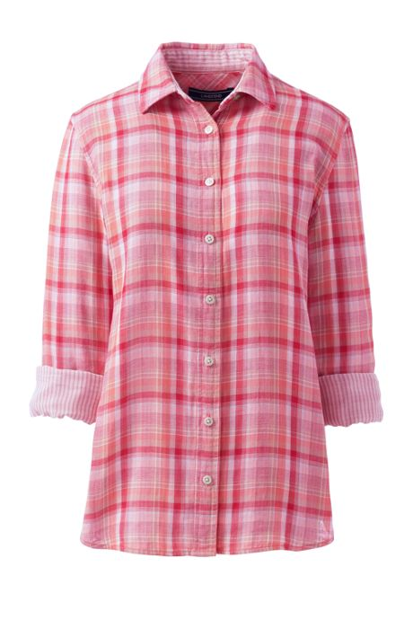 Women's Petite Double Cloth Pattern Shirt