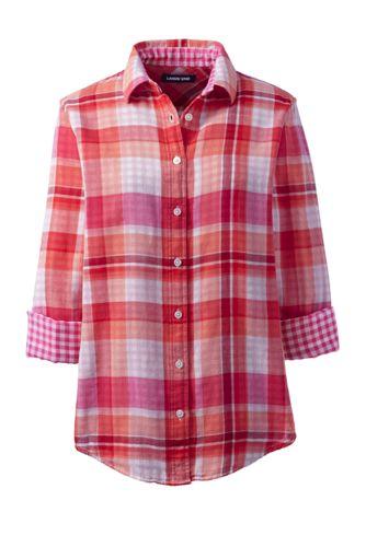 Women's Plus Size Double Cloth Pattern Shirt
