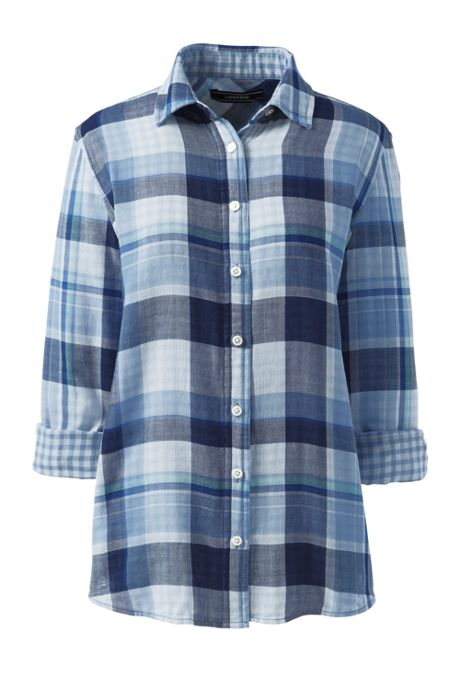 Women's Double Cloth Pattern Shirt