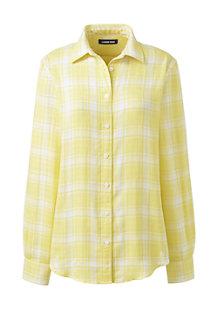 Karierte Bluse aus Baumwolle für Damen