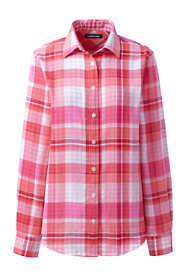 Women's Tall Double Cloth Pattern Shirt