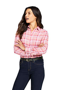 Women's Double Cloth Pattern Shirt, Front