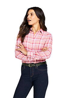 Women's Doublecloth Checked Shirt