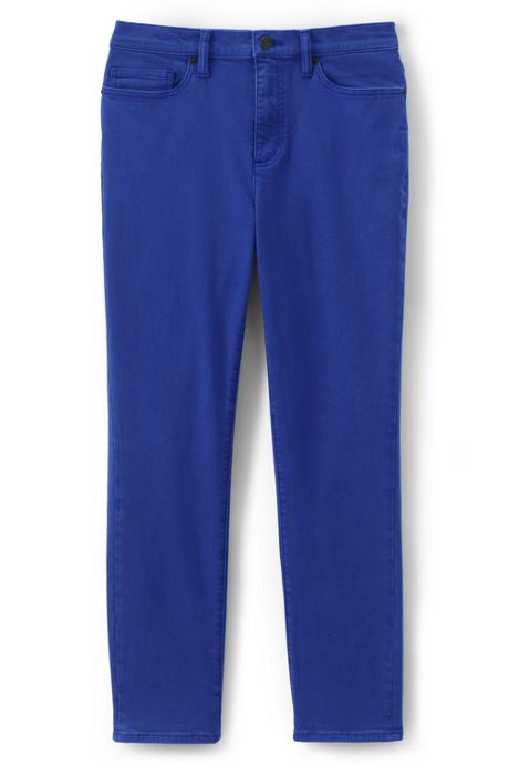 Women's Petite High Rise Straight Leg Ankle Jeans - Color