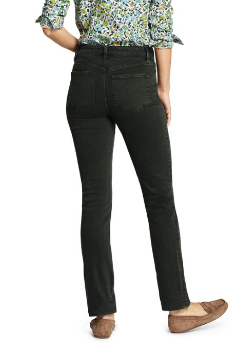 Women's High Rise Straight Leg Ankle Jeans - Color