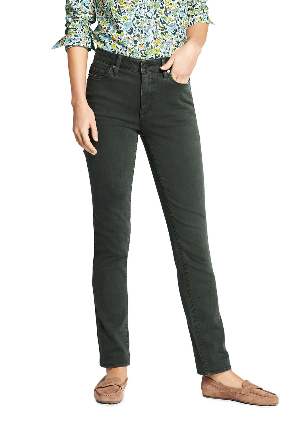 new release footwear latest trends of 2019 Women's High Rise Straight Leg Ankle Jeans - Color