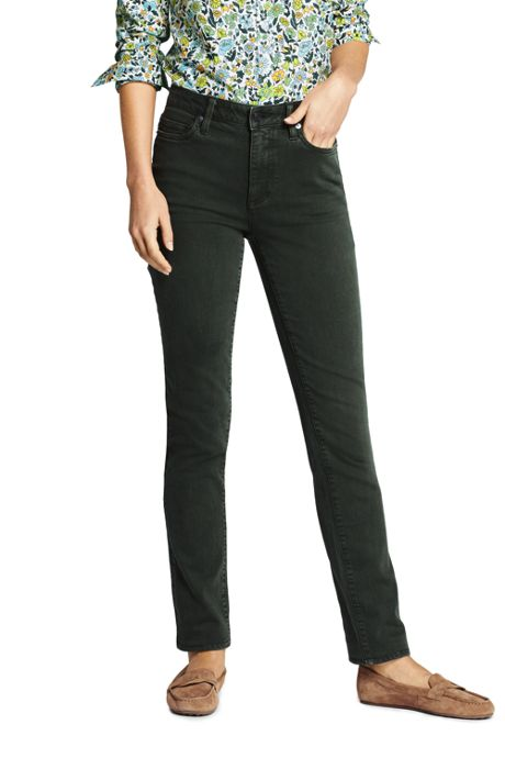 Women's High Rise Slim Straight Leg Ankle Jeans - Color