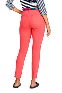 Women's Petite High Rise Slim Straight Leg Ankle Jeans - Color, Back