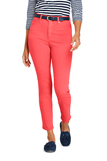 Women's Coloured High Waisted Ankle Jeans