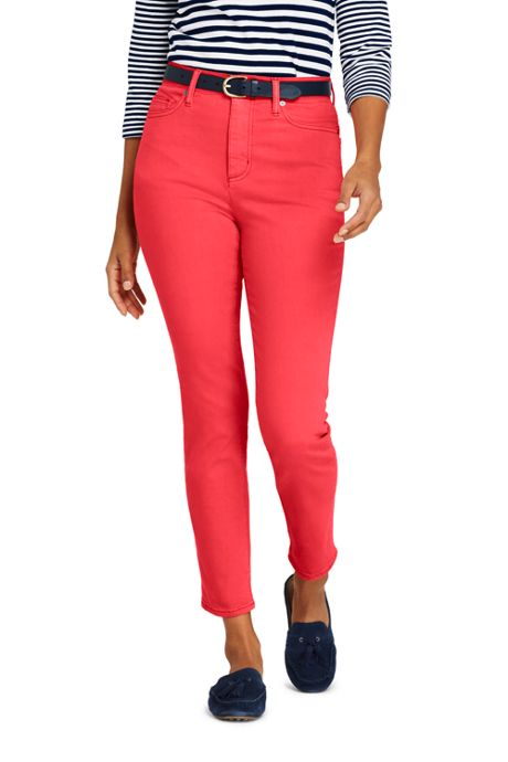 Women's Petite High Rise Slim Straight Leg Ankle Jeans - Color