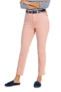 Women's Petite High Rise Slim Straight Leg Ankle Jeans - Color, Front