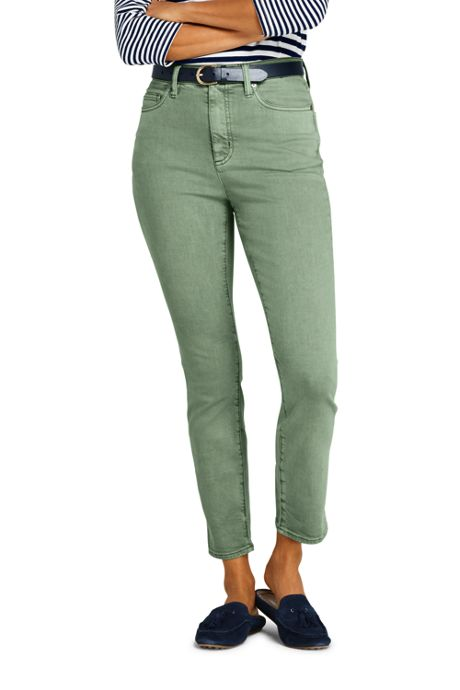 Women's High Rise Slim Leg Ankle Jeans