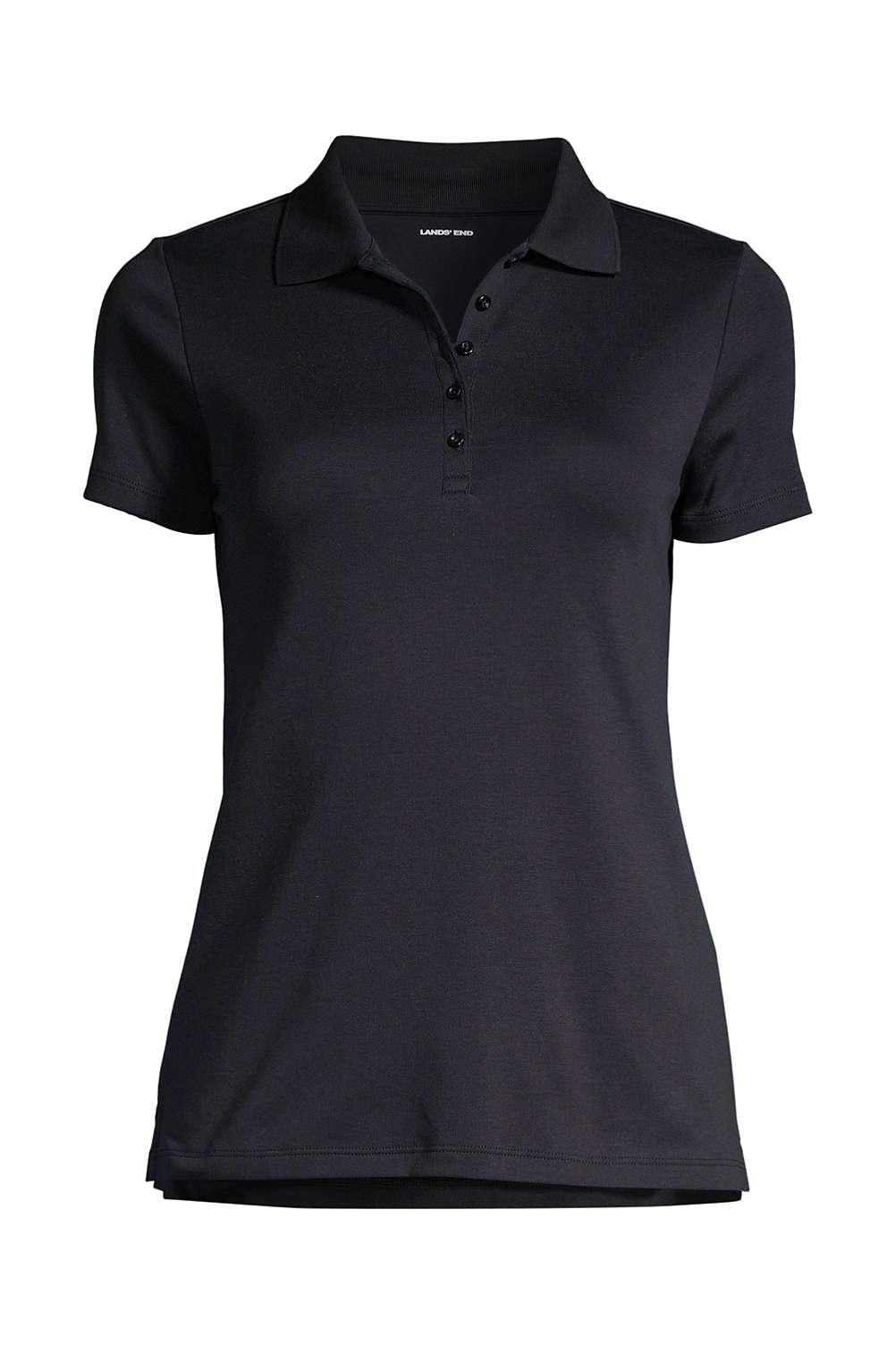 Women\'s Plus Size Supima Cotton Short Sleeve Polo Shirt