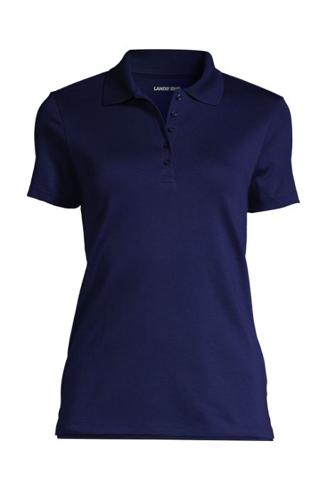 School Uniform Women's Plus Size Supima Cotton Short Sleeve Polo Shirt