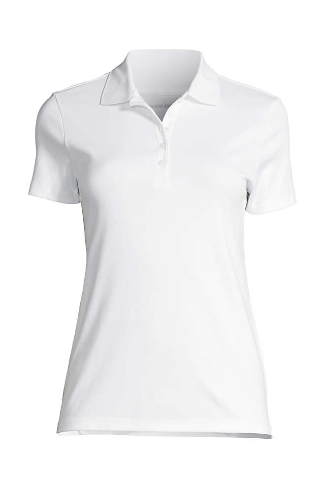 School Uniform Women's Supima Cotton Short Sleeve Polo Shirt , Front