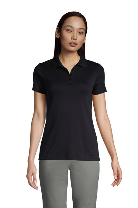 School Uniform Women's Petite Supima Cotton Short Sleeve Polo Shirt