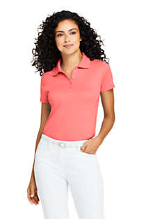 Women's Petite Supima Cotton Short Sleeve Polo Shirt , Front