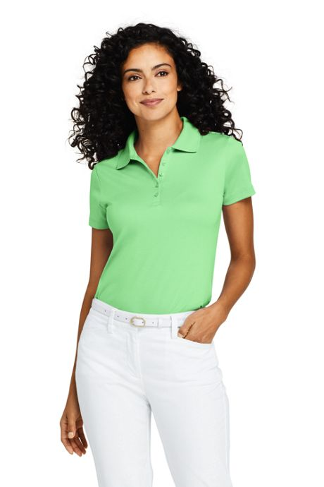 Women's Petite Supima Cotton Polo Shirt Short Sleeve