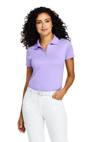 School Uniform Women's Short Sleeve Fem Fit Interlock Polo