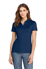 Women's Petite Supima Cotton Short Sleeve Polo Shirt