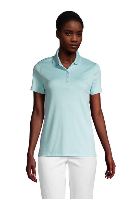 Women's Tall Supima Cotton Short Sleeve Polo Shirt