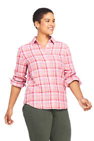 Women's Plus Size Double Cloth Pattern Shirt
