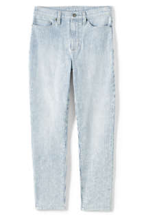 Women's High Rise Slim Straight Leg Ankle Jeans - Stripe, Front