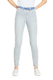 Women's High Rise Slim Straight Leg Ankle Jeans - Stripe