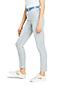 Taillenhohe knöchellange Slim Jeans, gestreift, für Damen