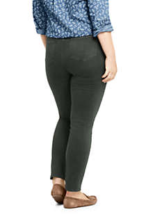 Women's Plus Size High Rise Slim Straight Leg Ankle Jeans - Color, Back