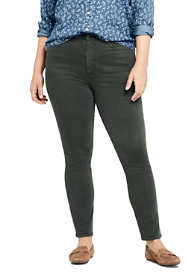 Women's Plus Size High Rise Straight Leg Ankle Crop Jeans - Color