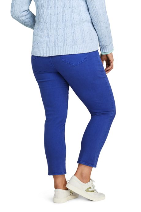 Women's Plus Size High Rise Slim Leg Ankle Jeans
