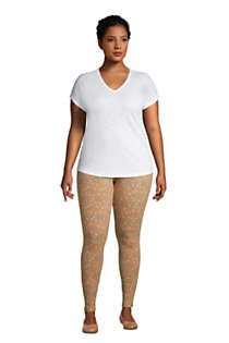 Women's Plus Size Starfish Mid Rise Knit Leggings, alternative image