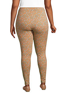 Women's Plus Size Starfish Mid Rise Knit Leggings, Back