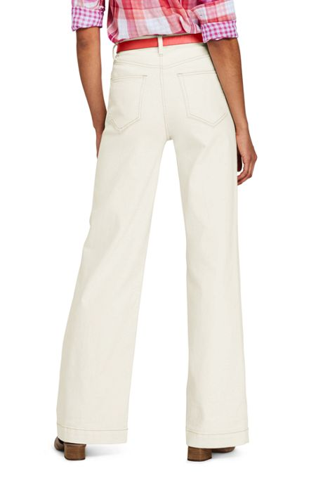 Women's Petite High Rise Wide Leg Jeans