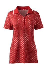 Women's Tall Supima Cotton Short Sleeve Polo Shirt - Print