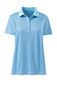 Women's Petite Supima Cotton Short Sleeve Polo Shirt Print