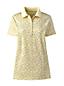 Supima-Poloshirt Gemustert für Damen in Plus-Größe