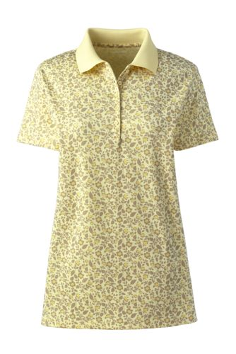 Women's Plus Short Sleeve Supima Print Polo Shirt