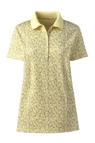 Polo Imprimé en Coton Supima à Manches Courtes, Femme Grande Taille