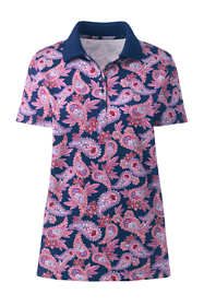 Women's Supima Cotton Short Sleeve Polo Shirt Print