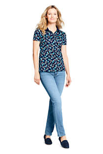 Women's Supima Cotton Short Sleeve Polo Shirt Print, alternative image