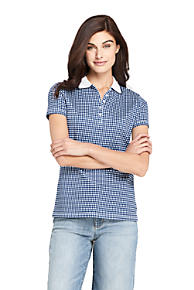 6c715b917d4 Women s Print Supima Cotton Polo Shirt Short Sleeve