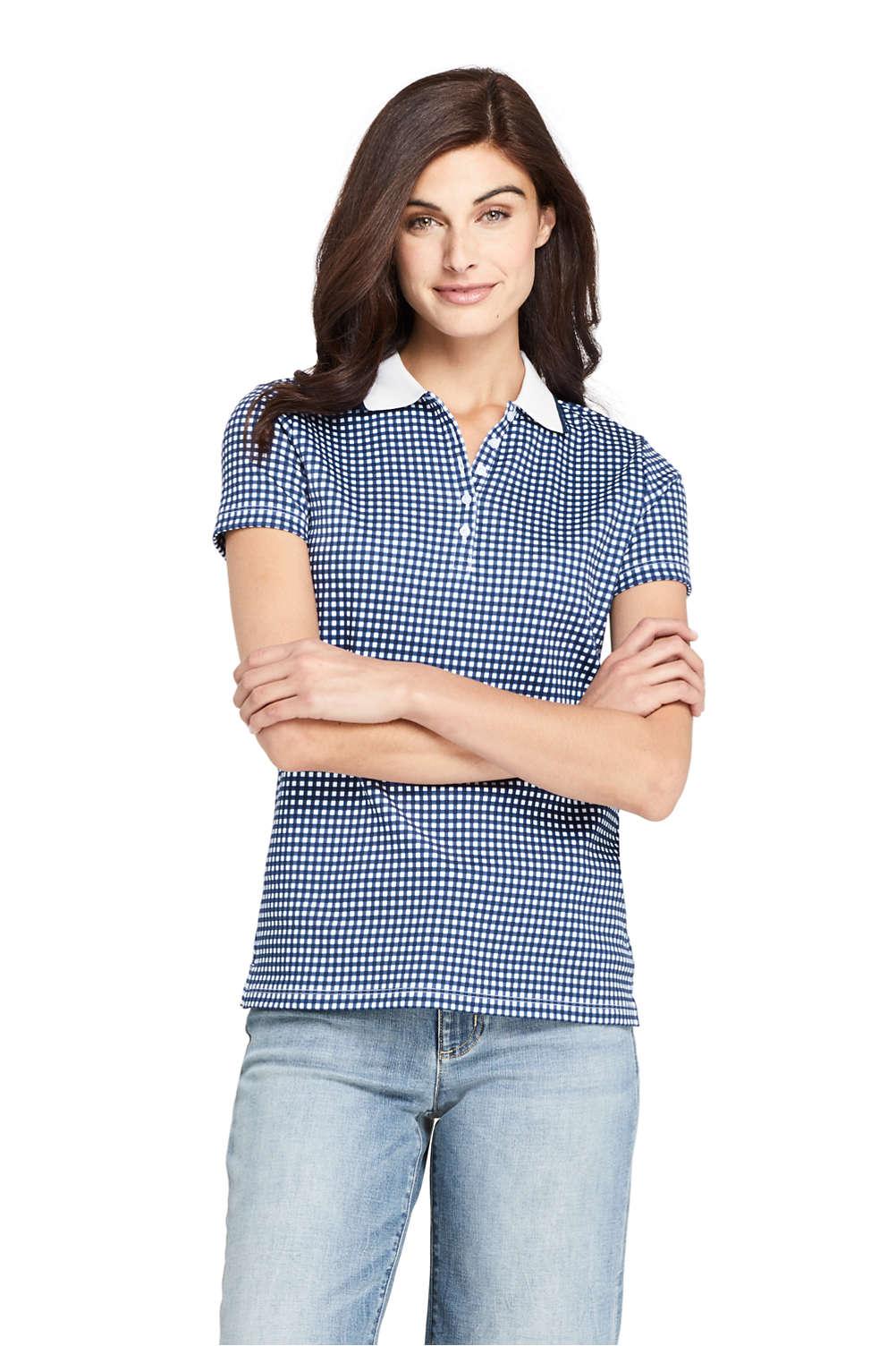 119d0ca7e82e3 Women s Print Supima Cotton Polo Shirt Short Sleeve from Lands  End