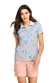 Women's Tall Print Supima Cotton Polo Shirt Short Sleeve