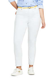 Women's Plus Size High Rise Slim Straight Leg Ankle Jeans
