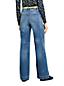 Taillenhohe Jeans mit weiten Beinen in Indigo für Damen in Petite-Größe
