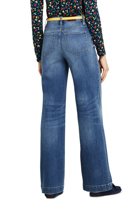 Women's High Rise Wide Leg Jeans