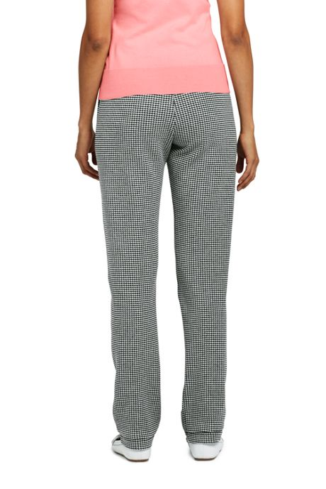 Women's Tall High Rise Sport Knit Pants - Gingham