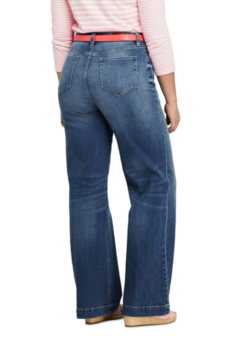Women's Plus Size High Rise Wide Leg Jeans